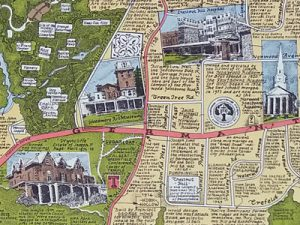 detail of Chestnut Hill map
